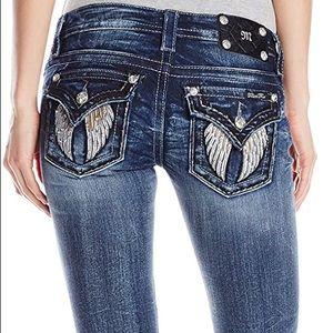 Miss Me Angel Wing Pocket Embellished Skinny Jeans